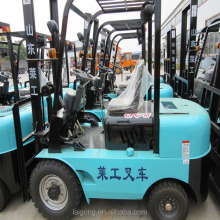 easy to unloading cargos forklift price diesel forklift truck with capacity 1T