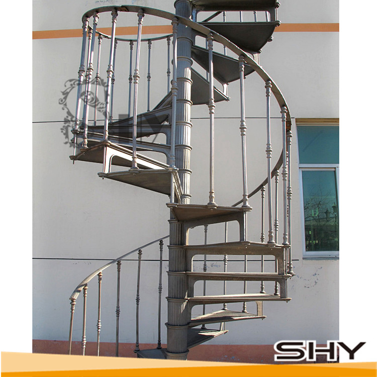new products spiral stairs exterior steel spiral stairs