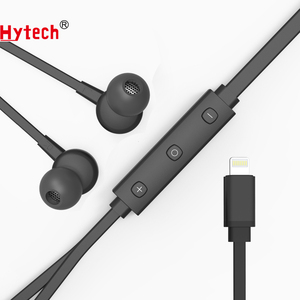 APE-01 MFi certified Light-ning earphone with Built-In Mic and Sound Mode Adjustment Earbuds, flat cable MFi headphone
