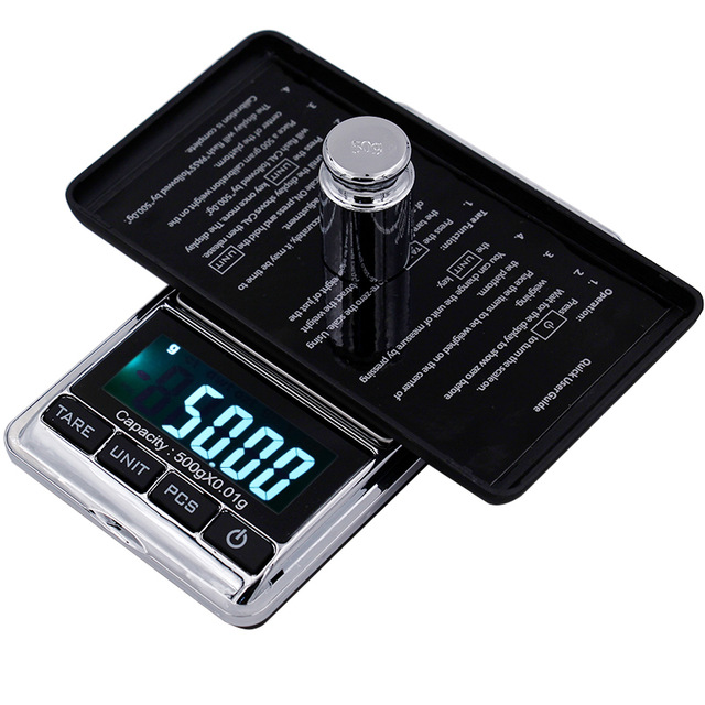 500g 0.01 Digital Electronic Kitchen Gram Scale Pocket Lab jewelry Weight scale with PCS Tare Function