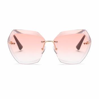 3a7676af03f 1027 Sunglasses For Women Diamond Cutting Lens Oversize Cat Eye Shades  Brand Designer Sun Glasses QC0534