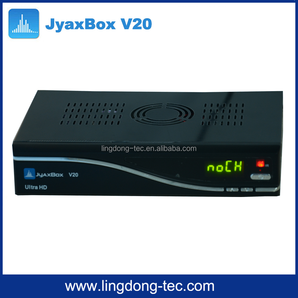 New Digital satellite receiver <strong>set</strong> <strong>top</strong> box Jyaxbox ultra hd v20 with jb200 and full hd 1080p free shipping to North America