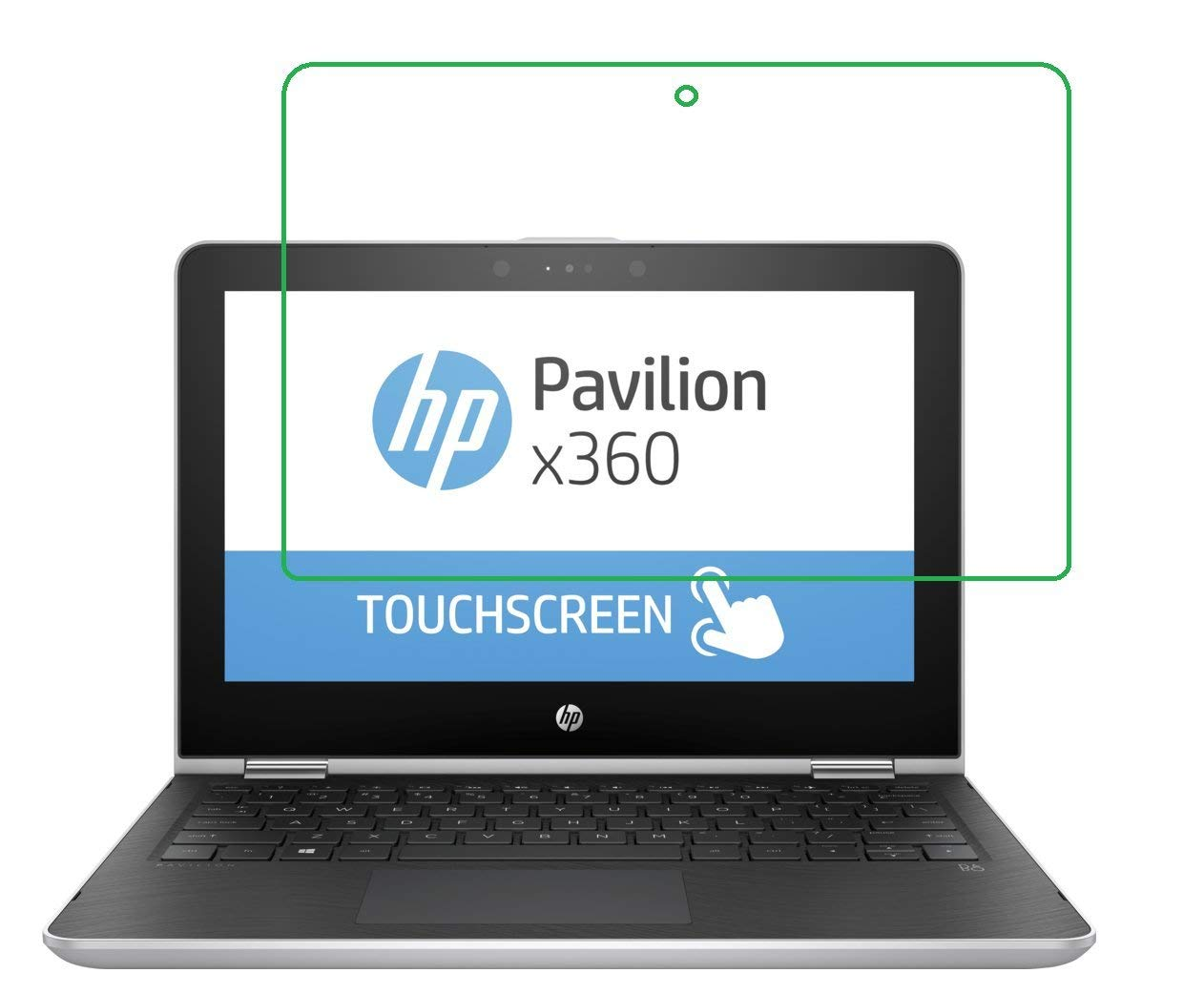 It3 HD Clear 2X Pcs Screen Protector Filter for 14.0 HP Pavilion x360 Convertible Laptop 14t Touch