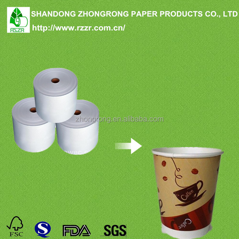 PE coated paper in roll for making paper cup