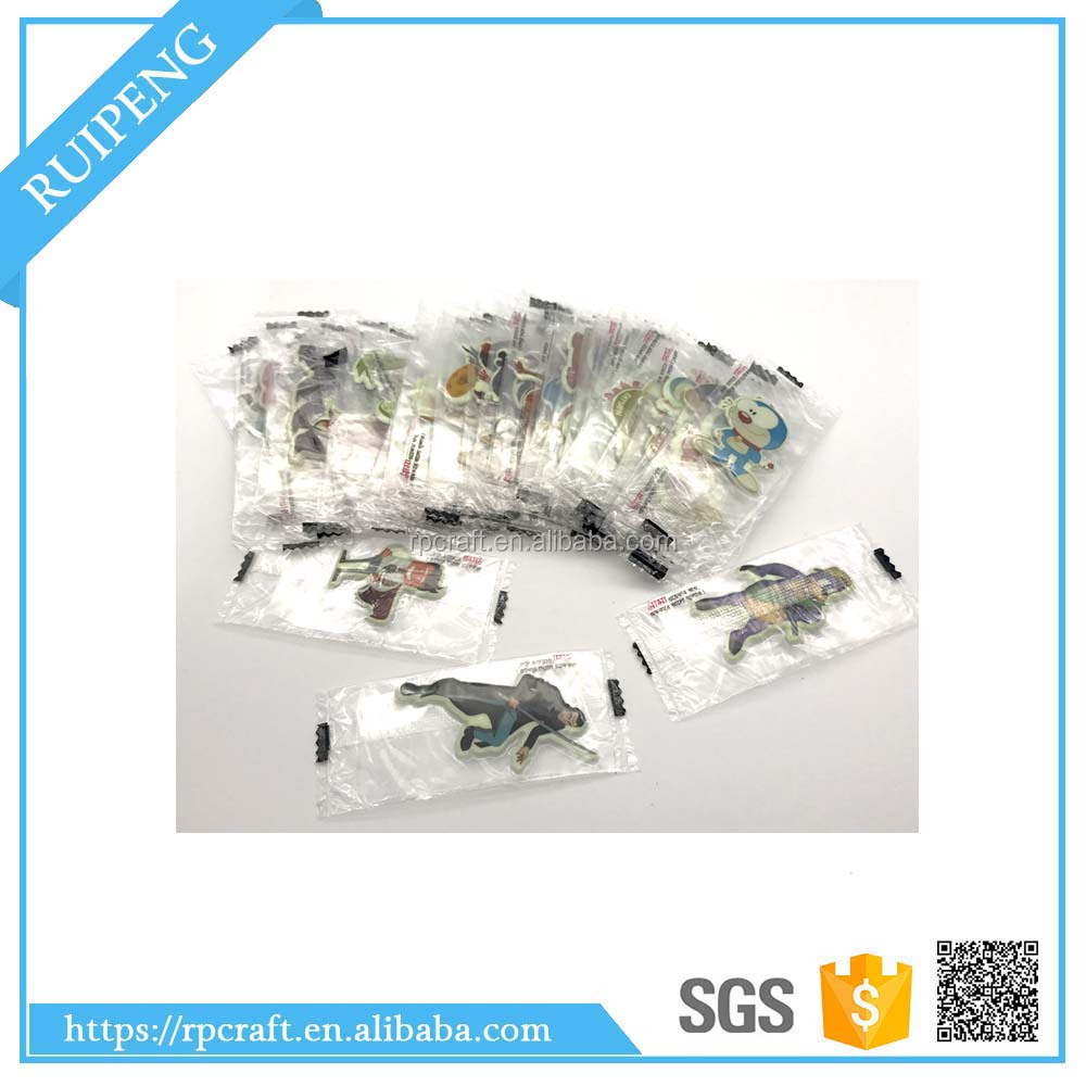 individual packing promotional items mini puffy sticker