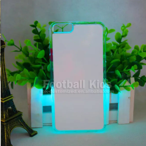 Mobile phone case 2D sublimation blanks for iPhone 6plus, LED back cover for iPhone 6plus