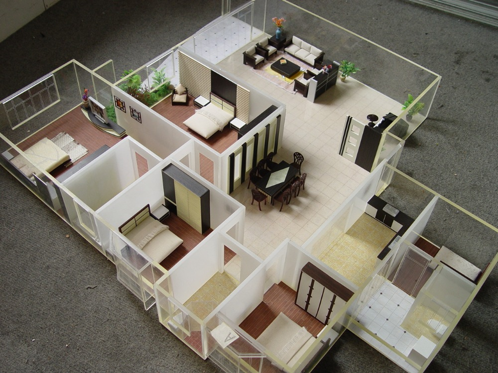 Exw price perfect design for interior layout of miniature for Scale model ideas