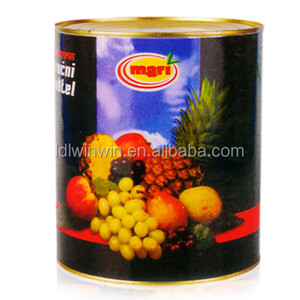 Canned fruits cocktail in syrup