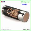 alibaba china 26650 black and red copper stingray mechanical mod