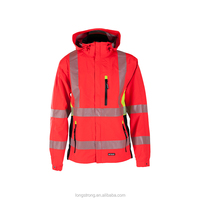 Xl Size Hi-Vis Safety Jacket Reflective Coat Work Wear