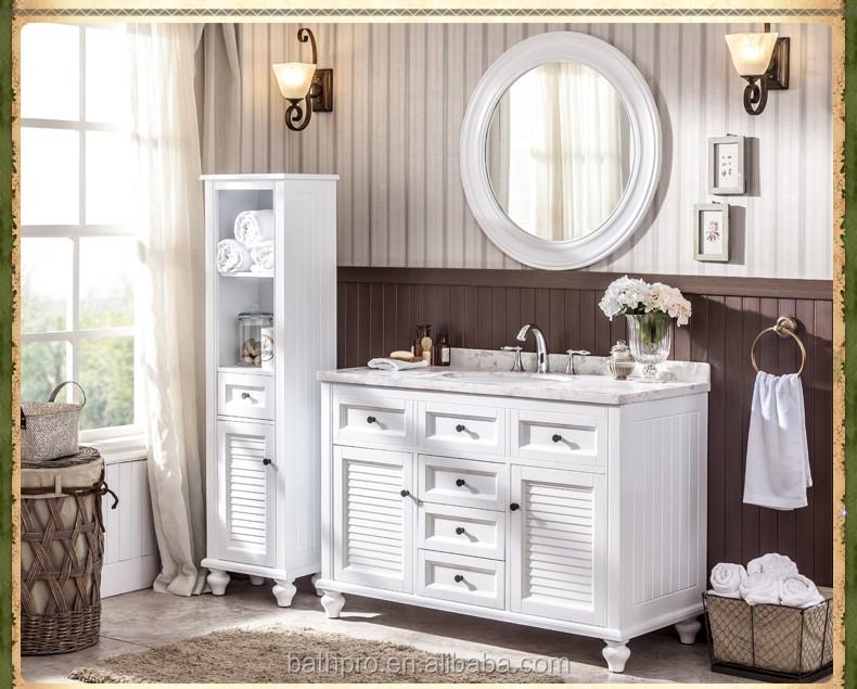 Venta al por mayor muebles de baño blanco baratos-Compre online los ...