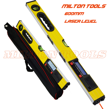 600mm 24 inch Digitale spirit Level Laser 0-600mm lcd-scherm digitale niveau met Laser Beam en magneet base