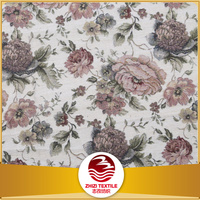 100% polyester high quality material jacquard floral pattern chenille upholstery fabric