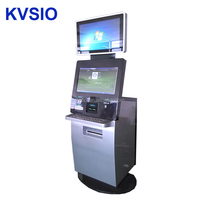 Dual screen Self service A4 laser printer Kiosk with cardit card reader cash payment acceptor and fingerprint reader