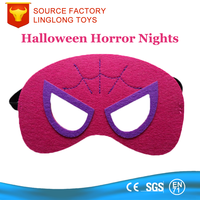 Halloween Celebration Masked Ball Red Spider-Man Felt Half Face Mask