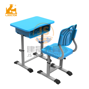 2019 New design plastic student chair and table with height adjustable