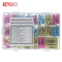 250PCS Heat Shrink Wire Connector Kit/ Waterproof Marine Automotive Terminal set