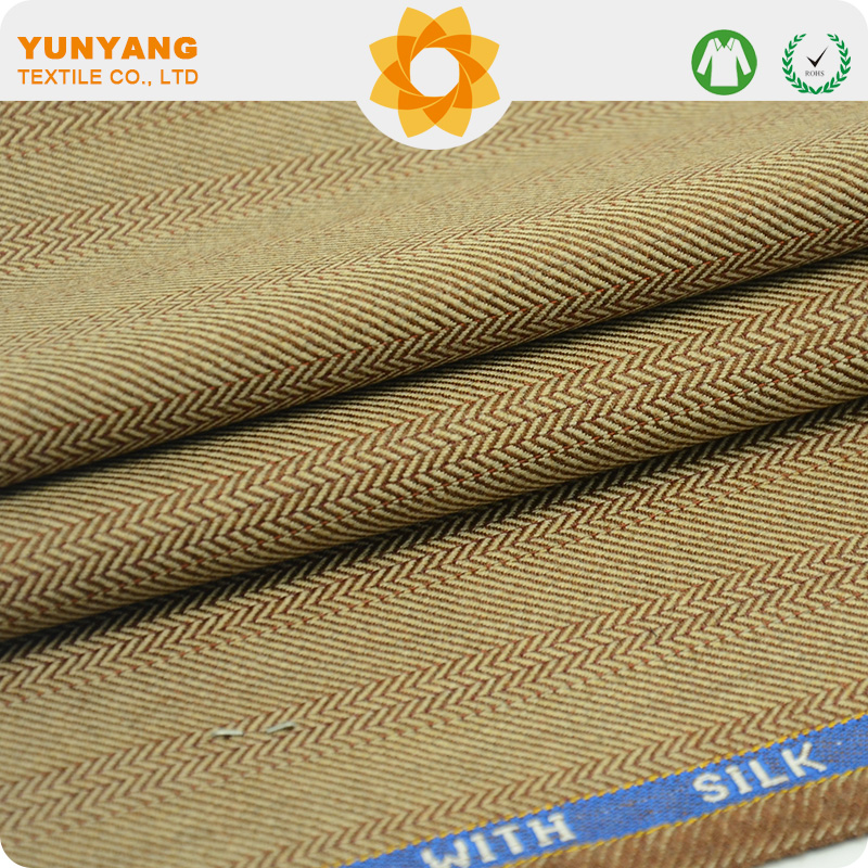 High quality Wool silk fabric with English selvage