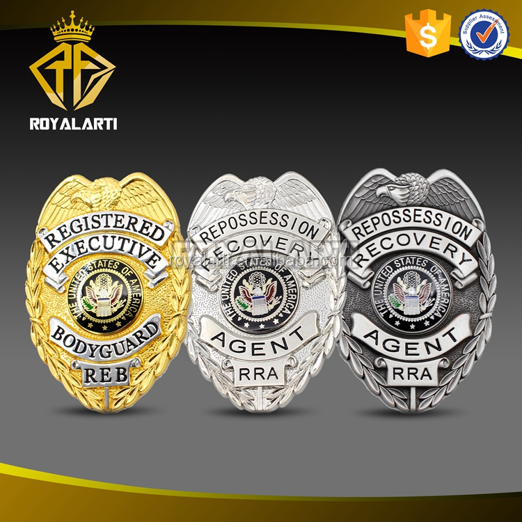 High Quality 3D Custom Metal Badge for Recovery Agent