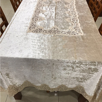 Best Selling White Velvet Vinyl Lace Tablecloth