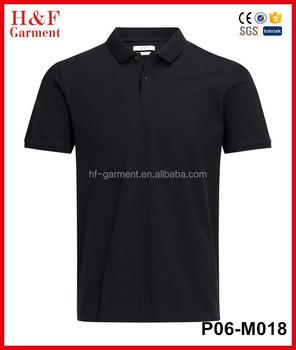 e8f5a408f9f09 Men s Polo Black Color Cheap T Shirt Sports Plain T Shirt - Buy Plain T  Shirt