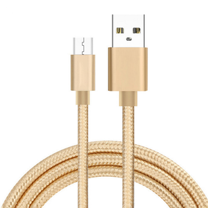 Nylon Braided Micro USB Cable Custom Logo USB Charger Cable For Android Mobile Phone