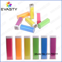 (Cheapest price) Colorful replaceable 18650 battery power bank rechargeable power charger 2200mAh 2600mAh for Chrismas gifts