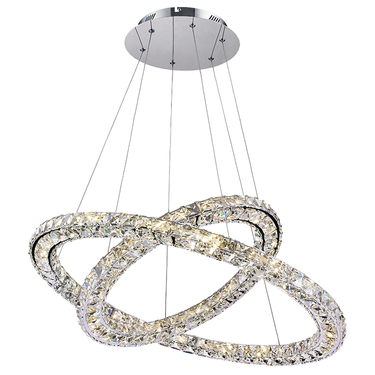 Simple European style home ceiling decoration modern crystal chandeliers pendant lights