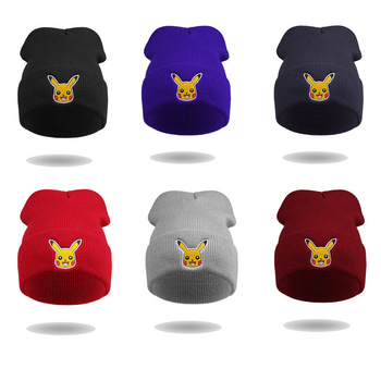 2016 high quality fashion pokemon go hat badge knitted winter hat for adult 7336ca2d57a8