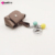 Allwell wholesale cute gifts mini leather keychain bag fancy key rings