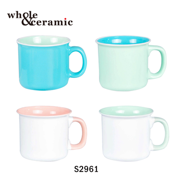 Whole 16 Oz Ceramic 14oz Coffee 12oz Solid Color Stoneware Mug Mugs Product On