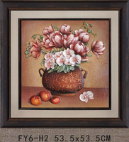 FY6-H2 Framed flower painting 3D framed flower painting for wall decor