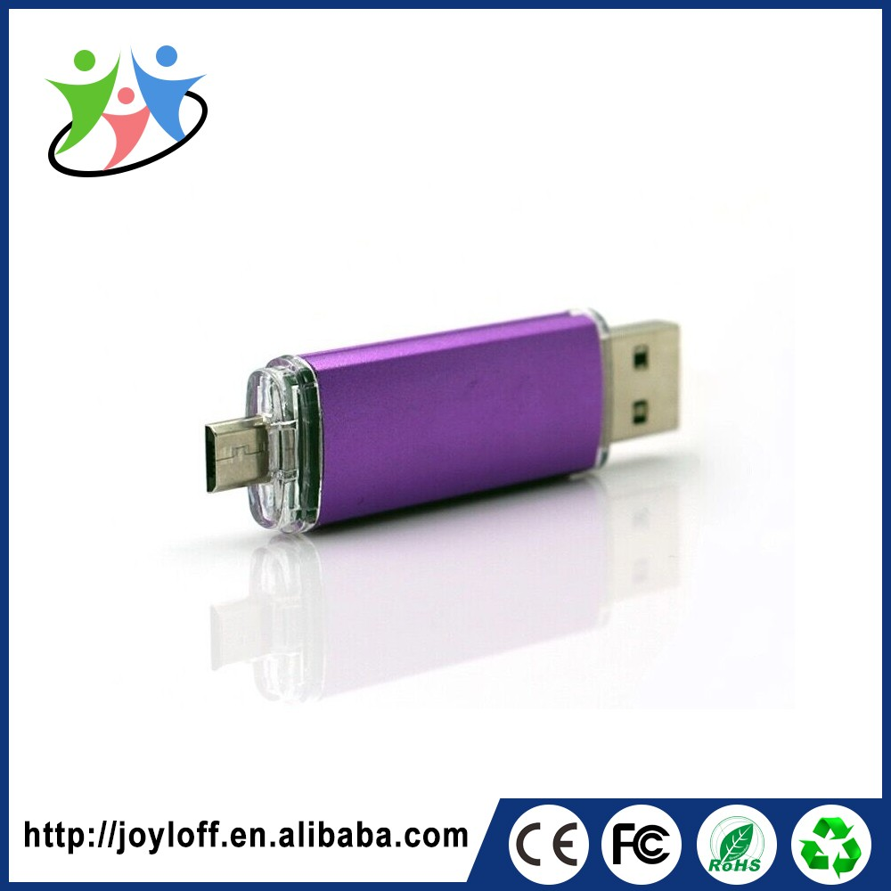 Alibaba Express Dual Double Plug Interface Otg Mobile Phone Pc Full Capacity Usb 2.0 Pendrive 128 Gb