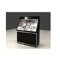 Luxury design cosmetic make up stand Armani lipstick display kiosk stands for sale for mall