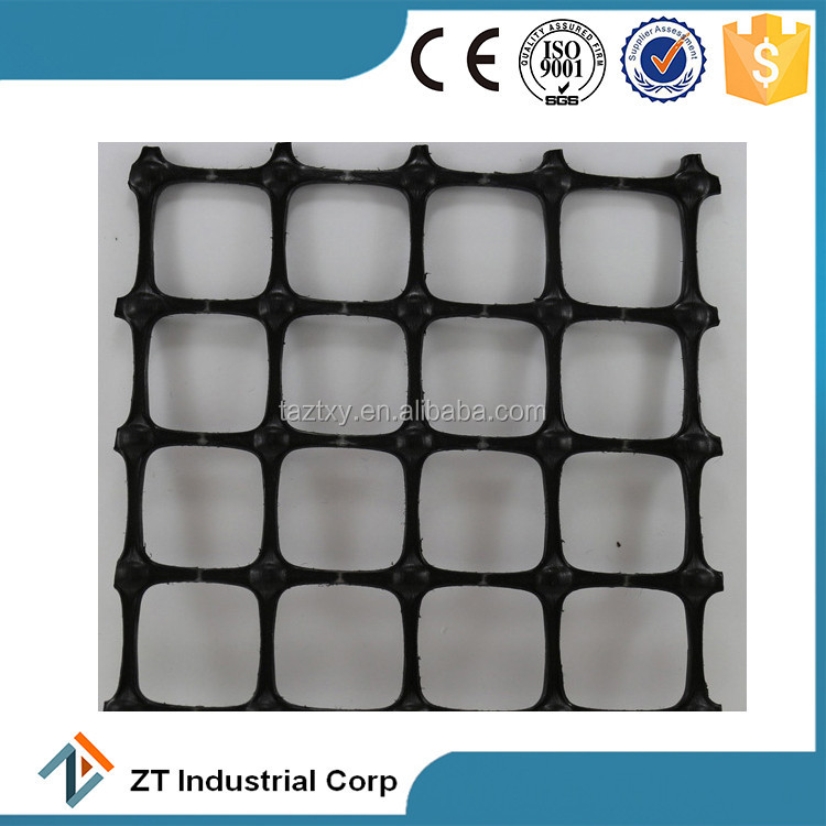 2017 hot sale in USA pp plastic biaxial geogrid hdpe for highway