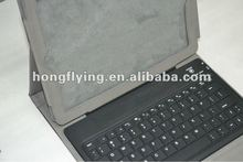 bluetooth keyboard leather cases for tablet,for ipad2/3