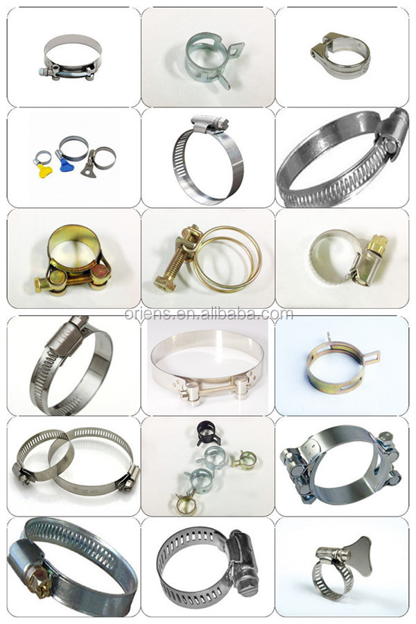 All types of hose clamp germany type mini