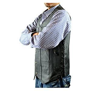Tall Size Ten Pocket Leather Vest 2XL