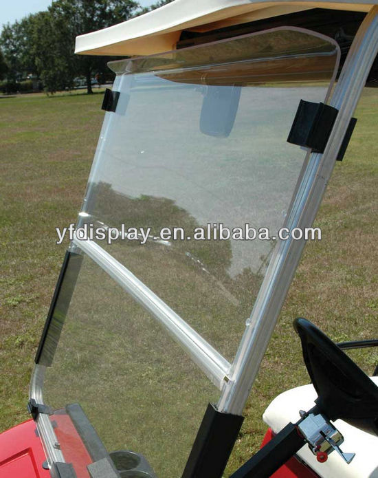 hot sale clear acrylic golf car windshield