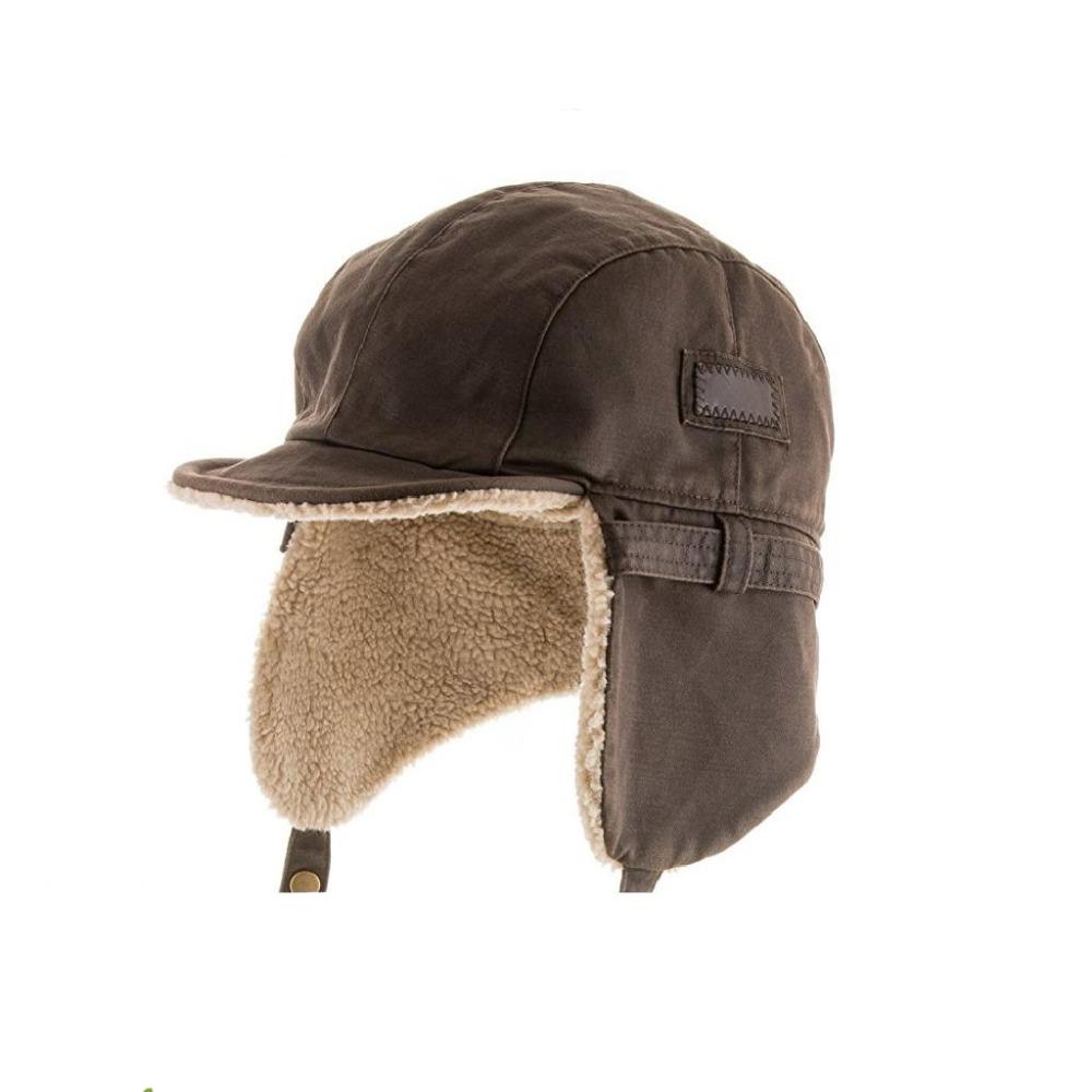 6e68cf7df61 Best Pilot Trooper Aviator Cap Faux Leather Hat Ushanka Trapper Winter ALL  SIZES