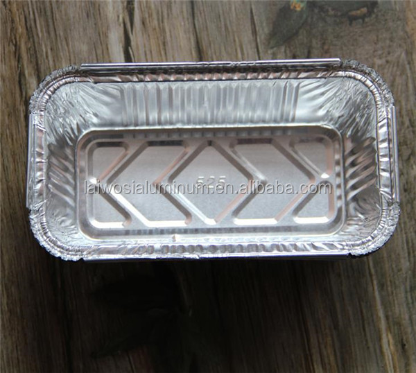 Aluminum Microwave Food Container Disposable Oblong Bread