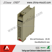 23-25 Sanhe ABS or Flame retardant electronic standard din-rail enclosure