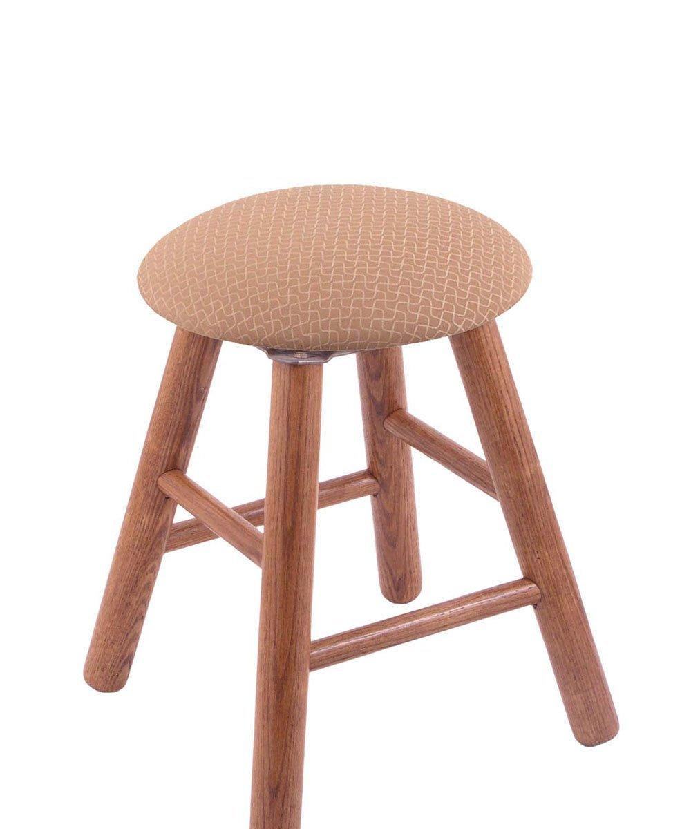 Oak Vanity Stool in Medium Finish with Axis Summer Seat