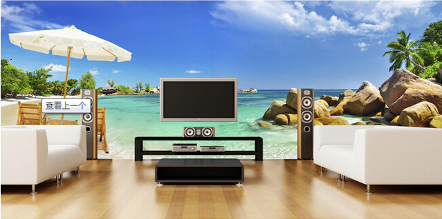 individuelle fototapeten strand welle landschaft wandbilder f r wohnzimmer schlafzimmer tv wand. Black Bedroom Furniture Sets. Home Design Ideas
