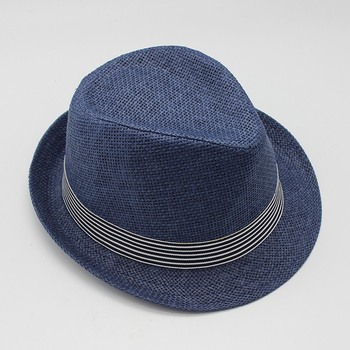 British style men sun beach cool white panama paper morocco straw fedora hat b91fe87ca43