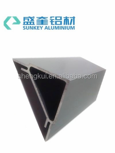 aluminum section anodize matt slivery curtain wall aluminum profile