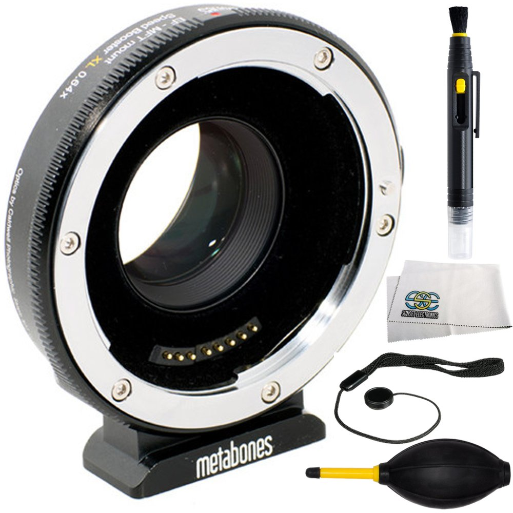 Metabones T Speed Booster Ultra 0.71x Adapter for Canon Full-Frame EF-Mount Lens to Micro Four Thirds-Mount Camera (MB_SPEF-M43-BT4) 4PC Accessory Kit