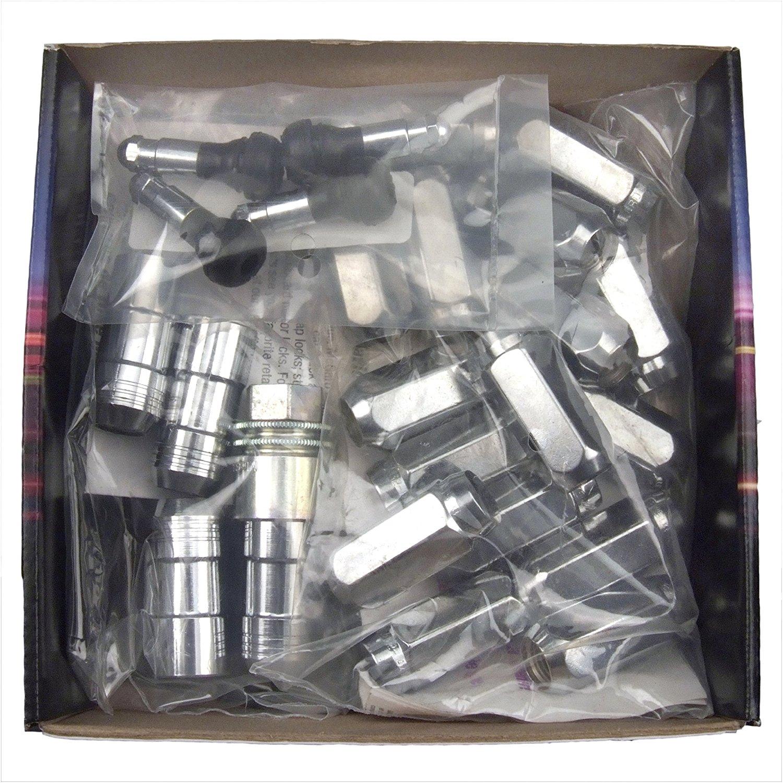 McGard 24208 Chrome//Black, M14 x 2.0 Thread Size Cone Seat Wheel Lock, Set of 4