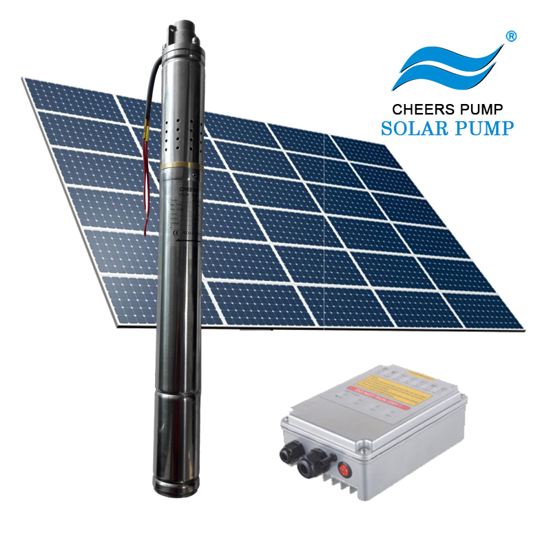270w deep well submersible solar pump solar powered water pump system for agriculture
