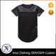 Factory Price Custom Short Sleeve Stylish Quality Black Leather Tshirt